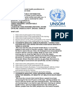 UN Trains Mental Health Practitioners in Somalia's South West State