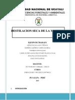Informe Final Destilacion Seca de La Madera