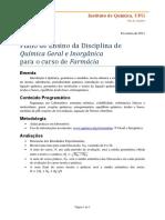 Plano de Ensino QGI Farmacia
