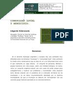 Comunidad Local y Municipio-edgardo Valenzuela