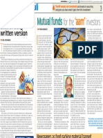 01. Mutual Funds for the Aam Investors 02 Jan 17