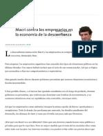 NOVARO, Marcos - Macri Contra Los Empresarios en La Economía de La Desconfianza [2017!07!19]