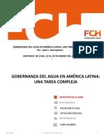 La Compleja Tarea de Gobernanza Del Agua en America Latina
