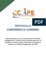 protocollo della consensus def per sito