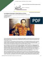 Los Indignos Homenajes a Simón Bolívar en Pasto - Las2orillas