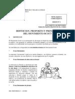 Definición, Propositos y Principios Del Movimiento Scout