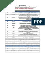 Cronograma Ortóptica - Pós Graduação - SP