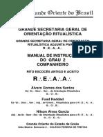 REAA - GOB - Manual de Instrução Do 2º Grau Companheiro