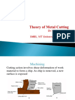 Theory of Metal Cutting- VUS