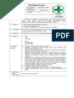 SOP Identifikasi Pasien