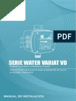 Manual Serie-Water VariatVD Plus