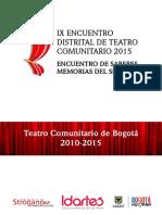 IX Encuentro de Teatro Low