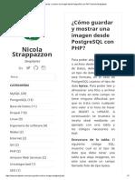 ¿Cómo Guardar y Mostrar Una Imagen Desde PostgreSQL Con PHP_ _ Nicola Strappazzon