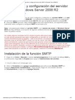 Configuración Del Servidor SMTP en Windows Server 2008 R2