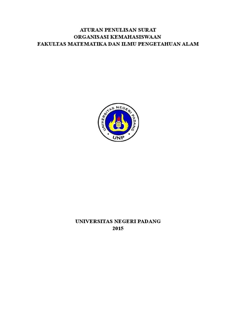 307617199 Aturan Penulisan Surat Dinas Organisasi Mahasiswa