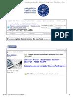 Exemple Concours Master Finace d'Entreprise 2013-2014 , Fsjes RABAT - منتدى كلية الحقوق أكادير _ FSJES AGADIR FORUM