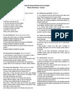 folheto de cantos - missa 30-07-2017