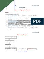 Prise de Notes Diagnostic Et Analyse Financier Prof AHROUCH