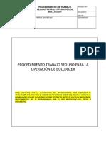 68 Pts 01 Procedimiento Trabajo Seguro Para La Operacion de Bulldozer