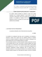 Gutiérrez, P. F. (1985).1. La educación como acción política explicita y consiente.