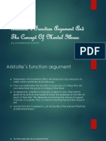 Aristotle´s Function Argument And The Concept