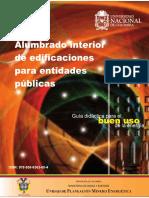 Guía Didáctica Para El BUEN USO de La Energía Alumbrado Interior de Edificaciones Para Entidades Públicas