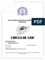 Project Report circular saw
