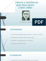Literatura y Resistencia Sartre