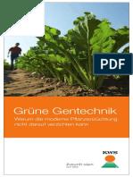 Broschüre Grüne Gentechnik – Warum Die Moderne Pflanzenzüchtung Nicht Darauf Verzichten Kann