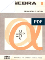 Álgebra I - Armando Rojo