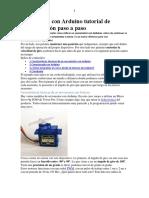 Servomotor Con Arduino Tutorial