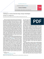 Challenges in Various Thermal Energy Storage Technology