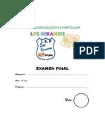Examén Final 03 Años Ok