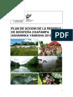 Plan Accion Reserva Biosfera Yanecha
