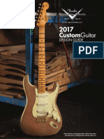 2017 Fender Custom Shop Design Guide