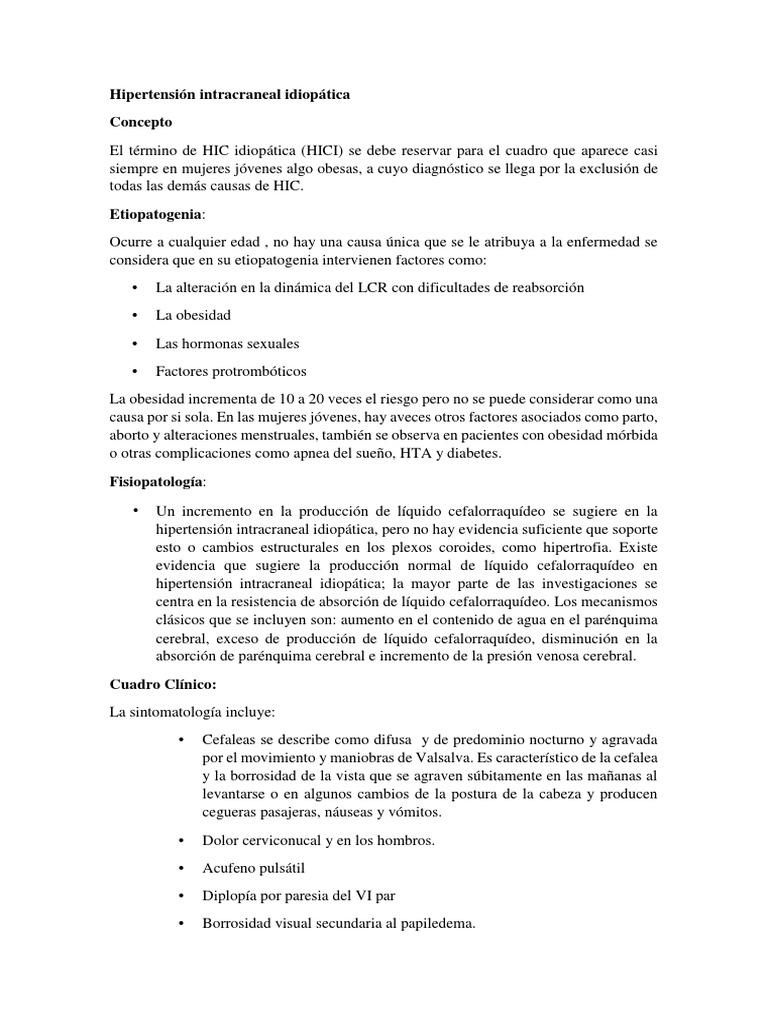 Colocación de derivación de hipertensión intracraneal idiopática