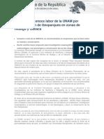 26-07-17 Congreso Reconoce Labor de La UNAM Por Denominación de Geoparques en Zonas de Hidalgo y Oaxaca