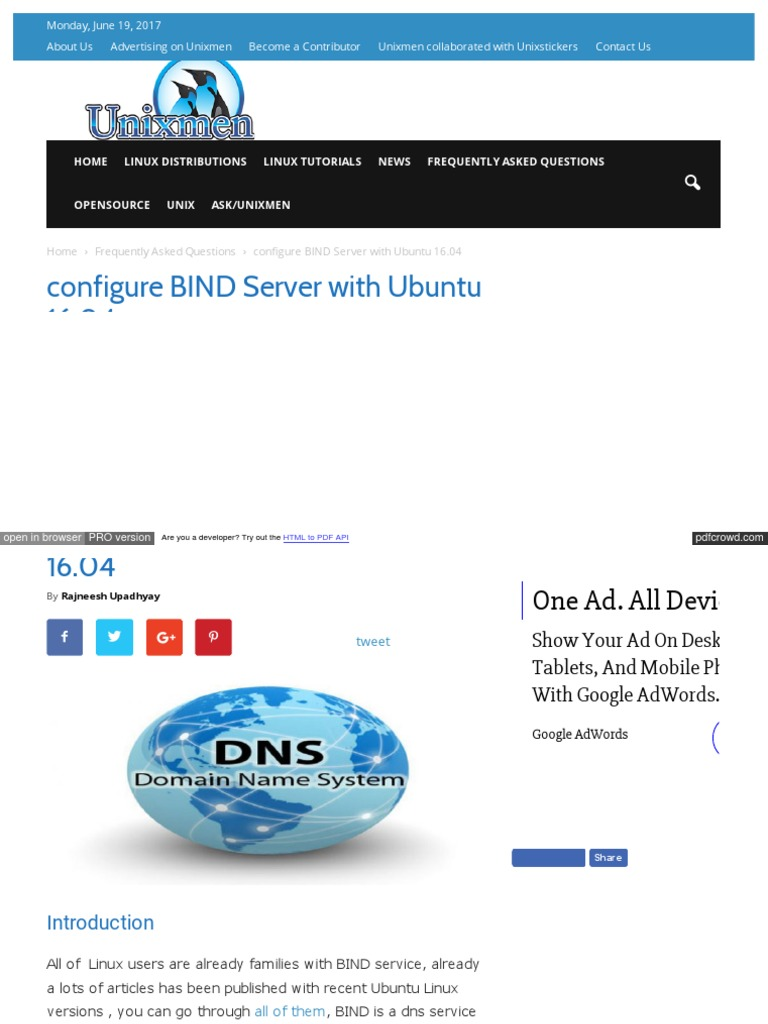 Dns Server In Linux Pdf File