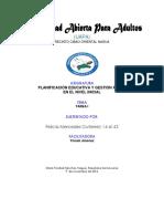 Tema I Planificación Y Currículo