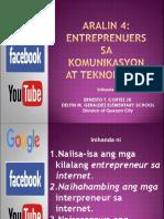 Entrepreneurs Sa Komunikasyon at Teknolohiya