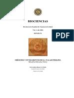 Origenes y Fundamentos de La Talasoterapia