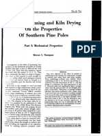Effects of Steaming and Kiln Drying on the Properties of Southern Pine Poles 1969