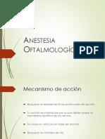 Anestesia Oftalmologica