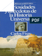 Curiosidades y Anécdotas de La Historia Universal - Carlos Fisas