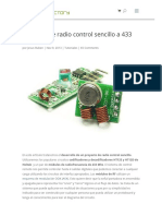 Circuito Radio Control 400 Mhz