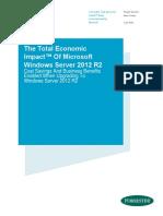The Total Economic Impact of Microsoft Windows Server 2012 R2 White Paper