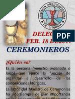 170218 Ppt Delegados de Liturgia Ceremonieros