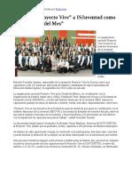 """25/07/17 Reconoce """"Proyecto Vive"""" a ISJuventud como """"Centro Vive del Mes"""" -Canal Sonora"""