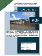 Informe Topográfico Pueblo Libre