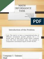 Math Performance Task Ppt